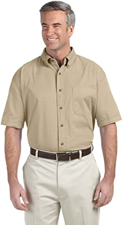 Devon & Jones Mens Short-Sleeve Titan Twill D500S at Amazon Men's ...
