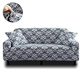 HOTNIU Stretch Pattern Sofa Cover - Thicken Polyester Couch Covers Form Fit Sofa Furniture Protector Slipcovers Armchairs Loveseats (Big Sofa, Pattern #ZHYJ)