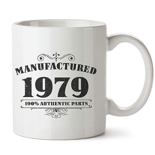 40th regalos de cumpleaños Manufactured 1978 gracioso tazas Regalos de cumpleaños regalos de cumpleaños para ella y para él en caja de regalo, Blanco