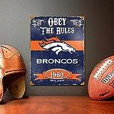 Party Animal NFL Embossed Metal Vintage Denver