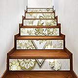 Hongyu Stairs self-adhesive wallpaper Muslim new Ramadan blessing home decoration 3D detachable DIY steps stickers modern HD waterproof stairs wallpaper buy three get one free