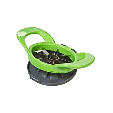 Prepworks by Progressive Wedge and Pop Apple and Pear Slicer, 8 Slices, Attached Safety Cover Protect Fingers while In-Use and Blades while in Storage