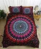 Difference Between California King and Queen Jameswish Gorgeous Bohemian Ethnic Style 3D Bedding Sets Brushed Mircrofiber,3-piece BOHO Bedspread 1 Duvet Cover,2 Pillowcases,Full Queen King California King Size