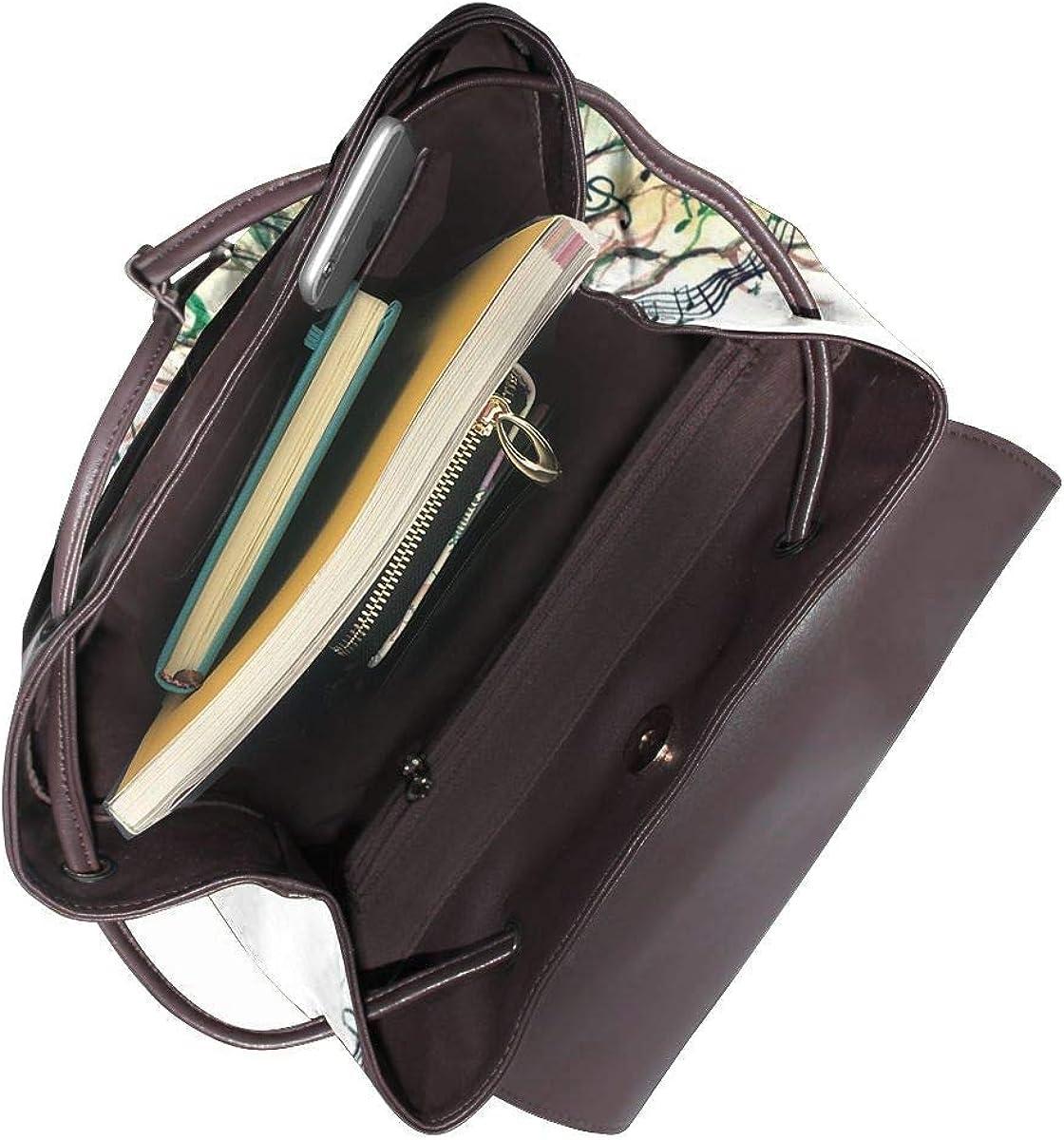 California Beach - Mini borsa a tracolla da donna, in vera pelle Albero Musicale