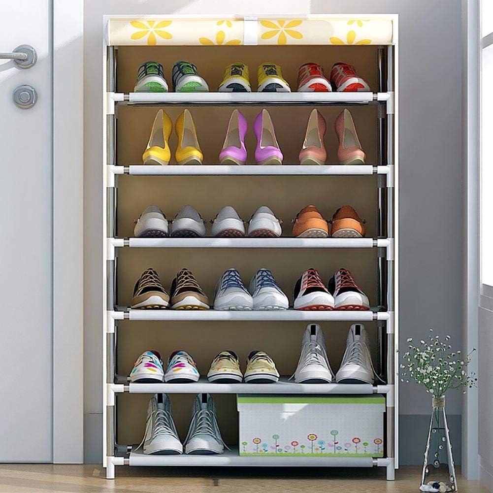 Zapatero_6 niveles 18-20 pares Armario de montaje de bricolaje con estante de zapato de cubierta a prueba de polvo Organizador de almacenamiento,Múltiples patrones disponibles (patrón de Mickey): Amazon.es: Hogar