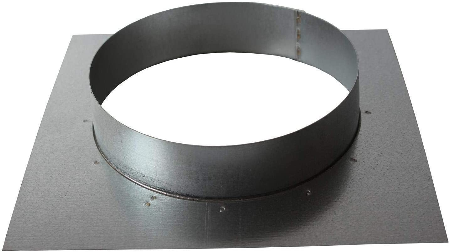 - Montageflansch Anschlussflansch Wandflansch 125mm Platte: 180 x 180mm