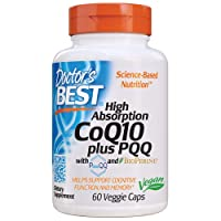 Doctor's Best High Absorption CoQ10 Plus PQQ, Gluten Free, Naturally Fermented,...