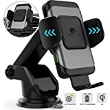 ZeeHoo Wireless Car Charger,10W Qi Fast Charging Auto-Clamping Car Mount,Windshield Dashboard Air Vent Phone Holder Compatible with iPhone Xs MAX/XS/XR/X/8/8+, Samsung S10/S10+/S9/S9+/S8/S8+