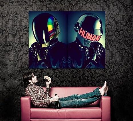 Amazon.com: xd7199 Daft Punk Cascos House Música Pop Art ...