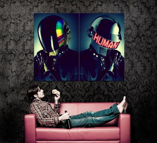 XD7199 Daft Punk Helmets House Music Pop Art HUGE GIANT WALL Print POSTER