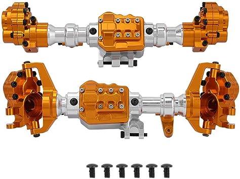 Carcasa del Eje RC, Kit de Vaja de Eje Delantero y Trasero RC Compatible con TRAXXAS TRX4 Model Truck