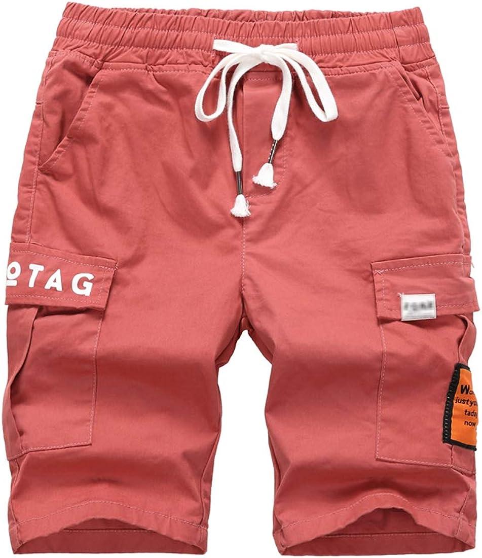LOKTARC Boys Bermuda Shorts Printed Pull On Cargo Shorts with Pockets 3-14 Years