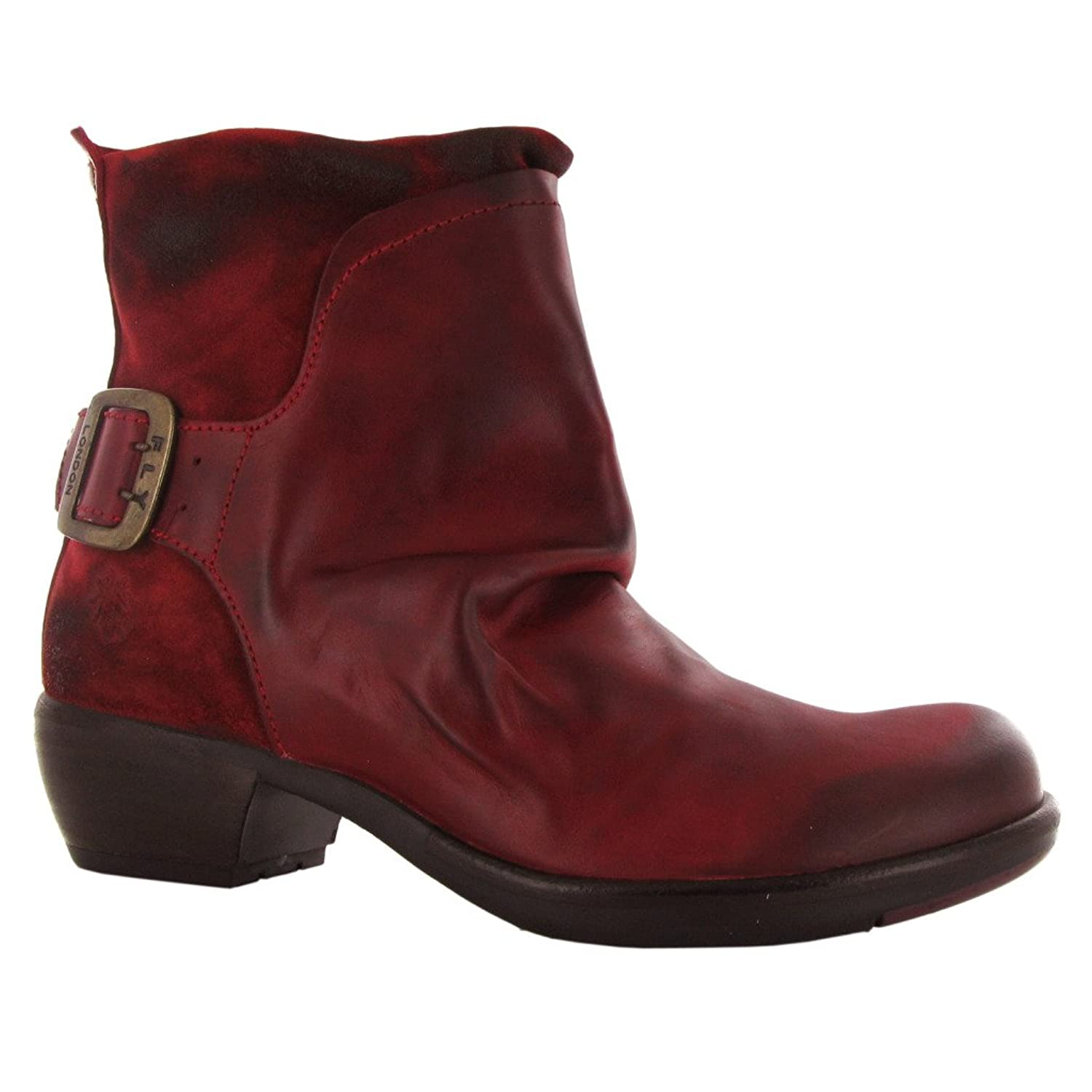 Fly London Mel Red Leather Womens Boots Size 38 EU: Amazon