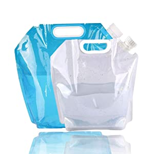 Collapsible Water Container, Freezable, BPA Free Plastic Water Carrier Tank, Outdoor Folding Water Bag for Sport Camping Riding Mountaineer, Food Grade