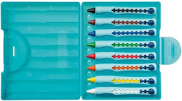 Pelikan 928762 - Ceras Griffix, multicolor, 8 colores, tambor ergonómico: Amazon.es: Oficina y papelería