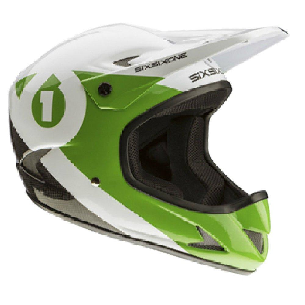 SIXSIXONE(シックスシックスワン) RAGE HELMET サイクル ヘルメット 0421004203001 ブラック/グリーン S   B00EZNEDVA