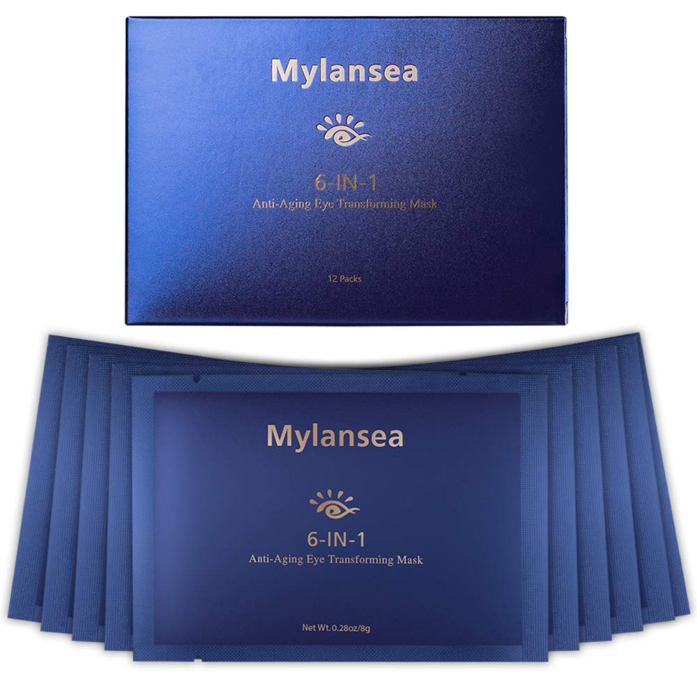Under Eye Patches, Mylansea Under Eye Mask with Hyaluronic Acid(14.8%) for Depuffing Eyes and Dark Circles, Hydrating and Anti Wrinkle Eye Patches 12 Pairs by Mylansea
