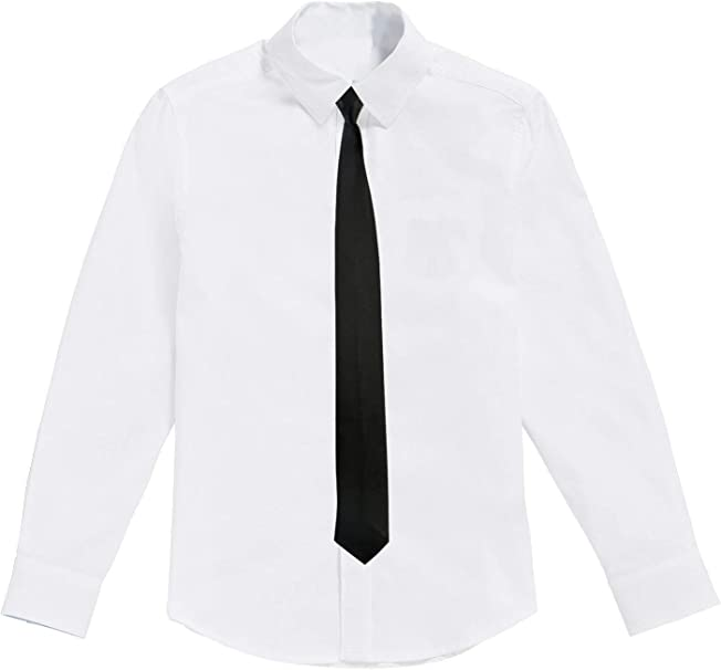 Camisa Blanca para niños con Corbata Negra: Amazon.es: Ropa y ...