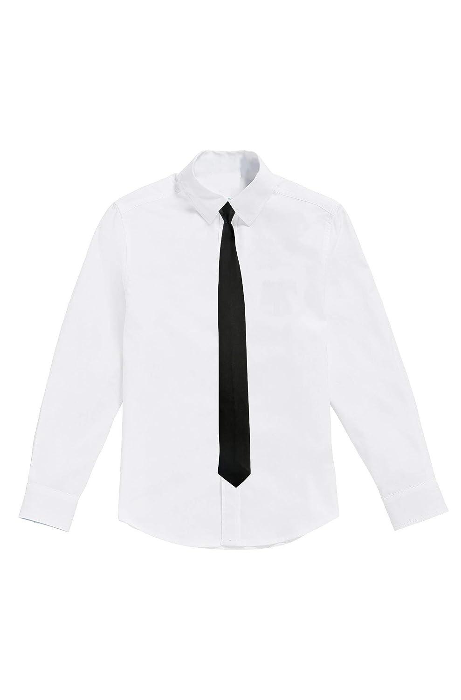 1000-ting.com ApS Denmark Camisa Blanca para niños con Corbata Negra