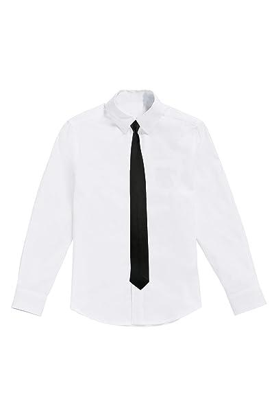 366b7b926 Camisa Blanca para niños con Corbata Negra  Amazon.es  Ropa y accesorios
