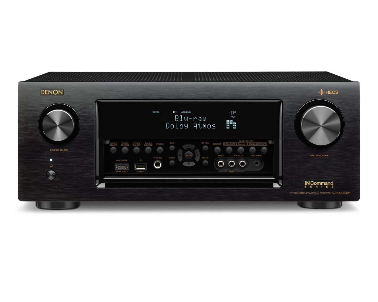 Denon Avrx4300h 92 Channel Full 4k Ultra Hd Av Receiver Thread Wiring Aftermarket Headunit To Mach 460 Amps Correctly With Built In Heos Wireless Technology Featuring Bluetooth And Wi Fi Works Alexa