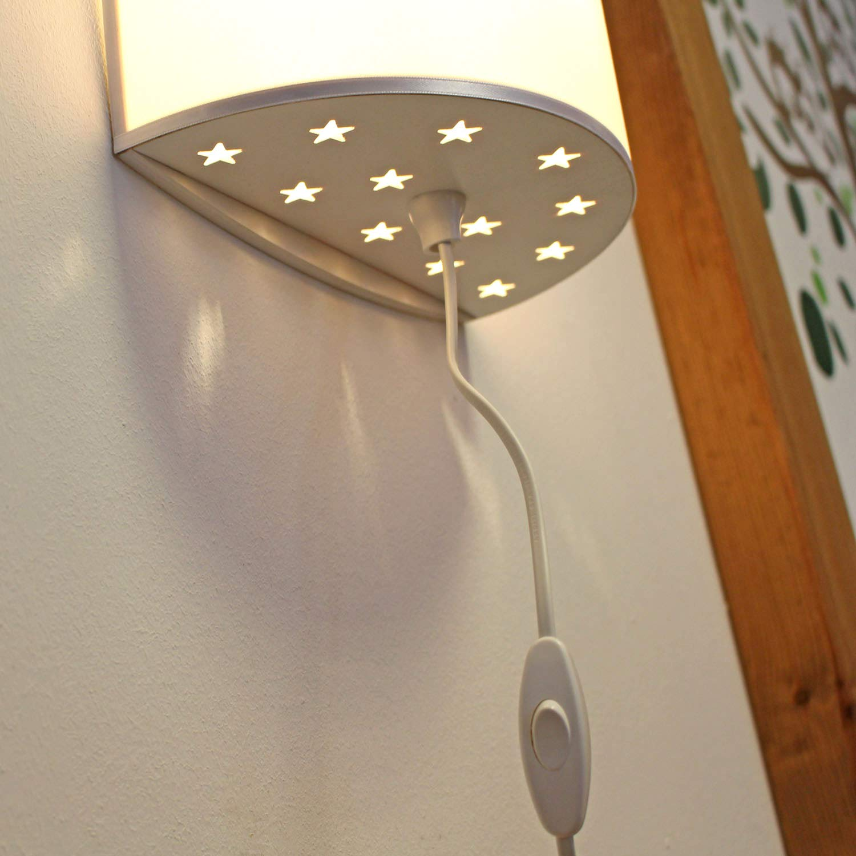 ilka parey wandtattoo-welt Wandlampe Kinderlampe mit s/ü/ßen REH /& Waschenb/är mit Schmetterlinge Lampe Motivlampe Leselampe Kinderzimmer ls129 *naturholzfarben* ausgew/ählte Farbe