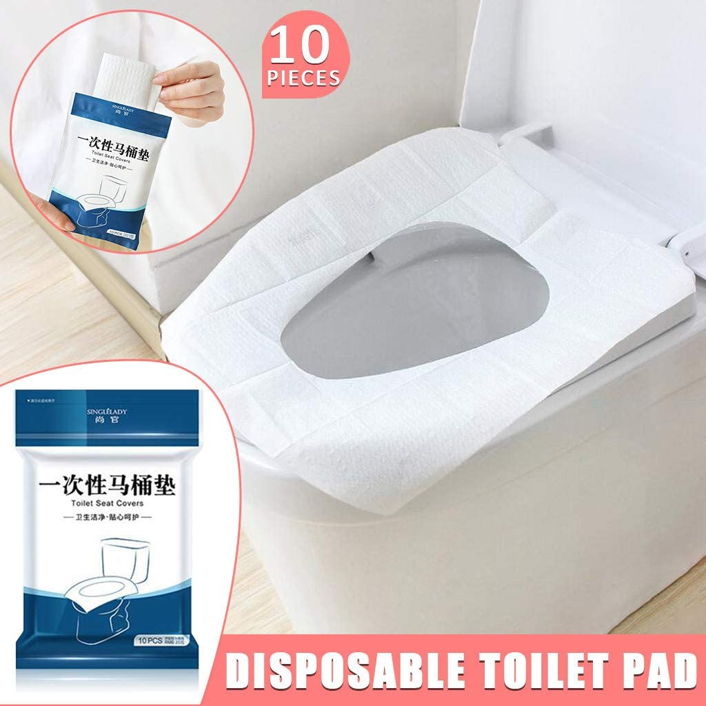 Liyes 10//50pcs Potty Training white, 10pcs Avoid Contact Pollution prevention Splash-proof Waterproof Toilet Seat Covers for Travel Disposable Toilet Gasket