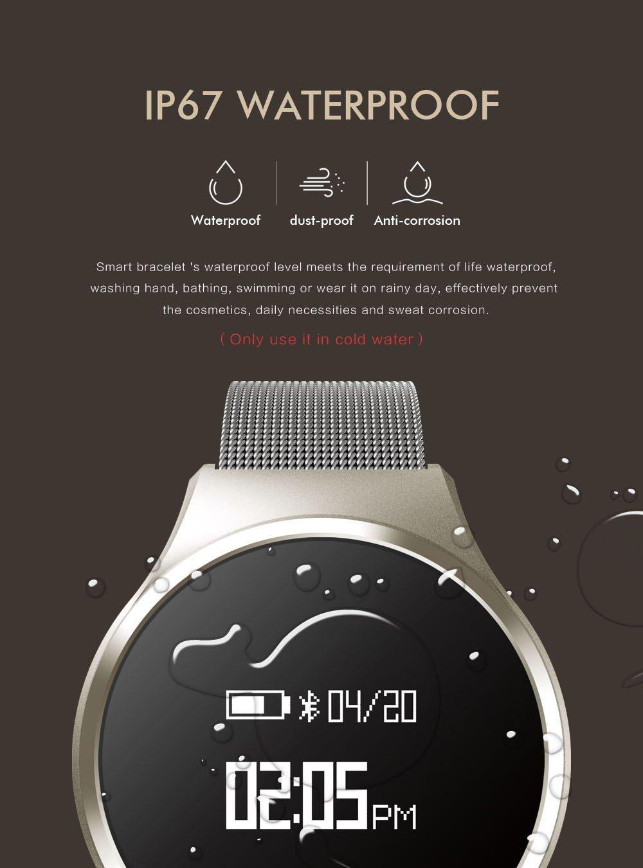 SLGJYY Metal Smart Pulsera Frecuencia Cardíaca y Tensiómetro Salud Pulsera Podómetro Pulsera Smart Cámara Pulsera, Color Plata: Amazon.es: Deportes y aire ...