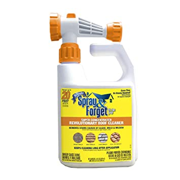Amazon com: Spray & Forget Revolutionary Roof Cleaner with