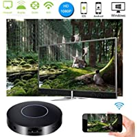 WIFI Display Dongle, OXOQO 1080P WiFi Wireless Mini Display Receiver HDMI Dongle with AV Output and Marquee Light, Support Miracast DLNA Airplay for IOS/Android/Windows/Mac to TV Projector Monitor