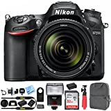 Nikon D7200 DX-format 24.2 MP DSLR Body Digital SLR Camera with Wi-Fi and NFC (Black) Bundle with Photography Backpack Accessory Kit and SanDisk 32GB Ultra SDHC Memory Card