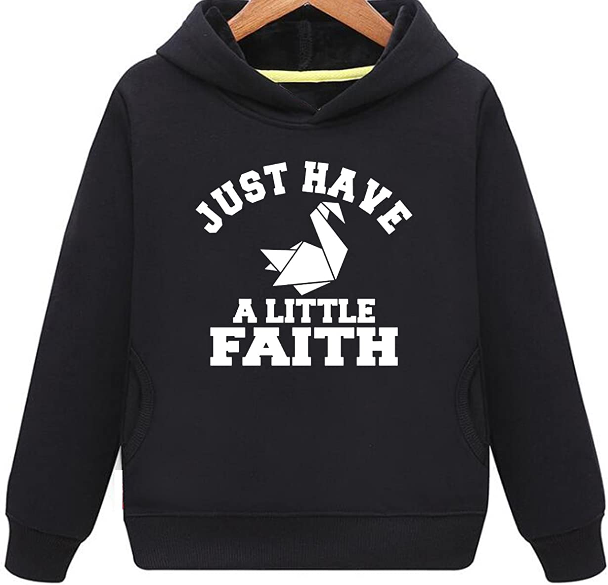 Kids Two Pockets Just Have A Little Faith Hoodie