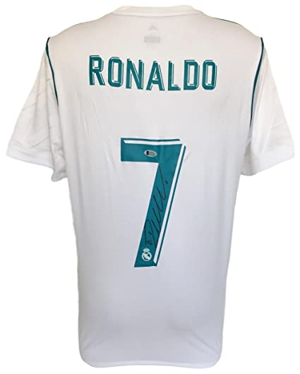 online store 42132 97c2f Cristiano Ronaldo Signed 2017/18 Adidas Real Madrid Soccer ...