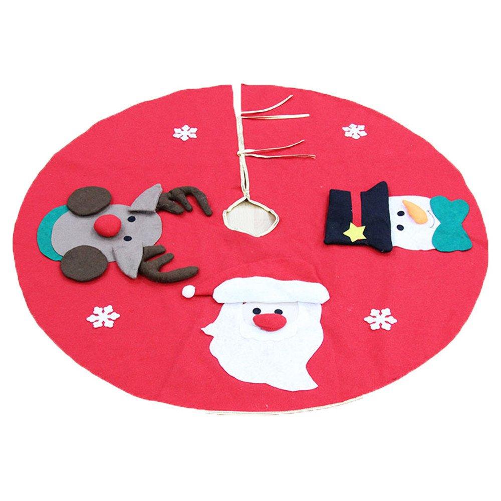 """Rosso Gonne Per Alberi Di Natale, Decorazioni Albero Di Natale, 3D Babbo Natale/Pupazzo Di Neve/Renna, 100Cm(39.4"""") 100Cm(39.4"""") doublebulls"""