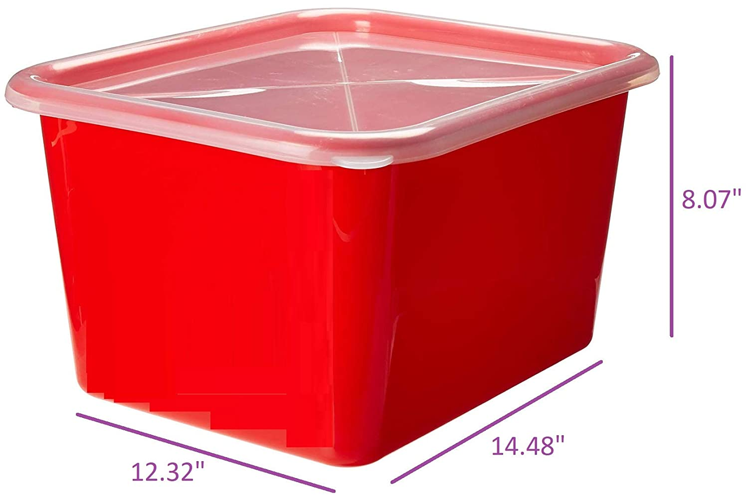 School Kids Classroom Closet Book Box Covered Cubby Zilpoo 4-Pack Toy Storage Organizer Bins with Lids 15 Quart Stackable Plastic Containers with Clear Cover