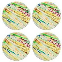 MSD Round Coasters Image ID 27005118 Vintage looking Money to burn banknotes cut with a paper shredder