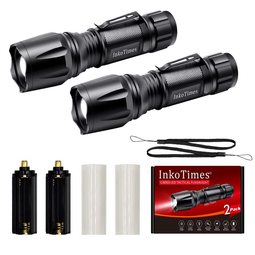 InkoTimes LED Flashlight - i1800S Powerful Waterproof Flashlight - Best for Home, Biking, Camping, Outdoor, Emergency (Batteries Not Included) by InkoTimes (Image #7)