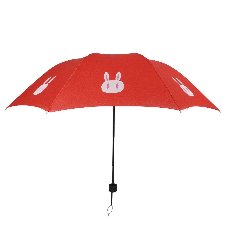 i mart cute rabbit sun rain umbrella red home kitchen