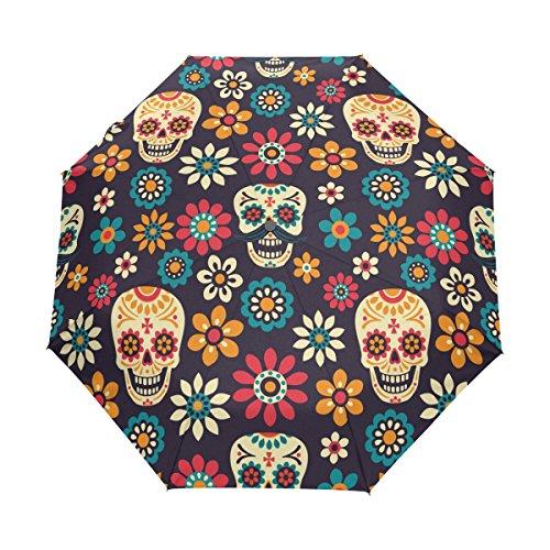 WOZO Daisy Flower Sugar Skull Vintage