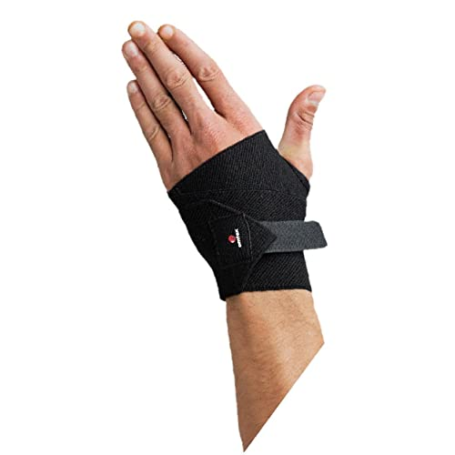 Omtex Elasticized-Fabric Hand or Thumb Support, Men's Free Size (Black)