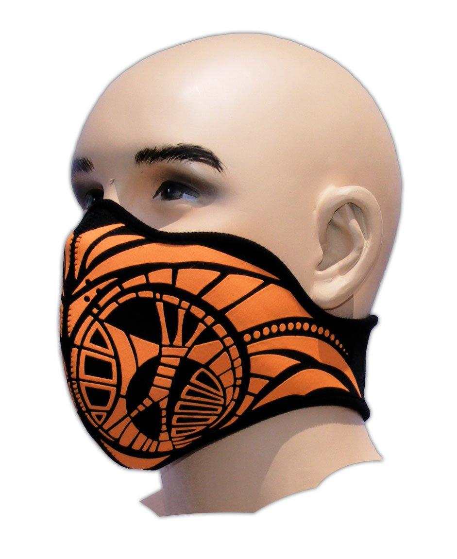 Biker Tattoo Motorrad Mundschutz Maske Neopren Feinstaubfilter Snowboard Ski Extrem Sport Paintball