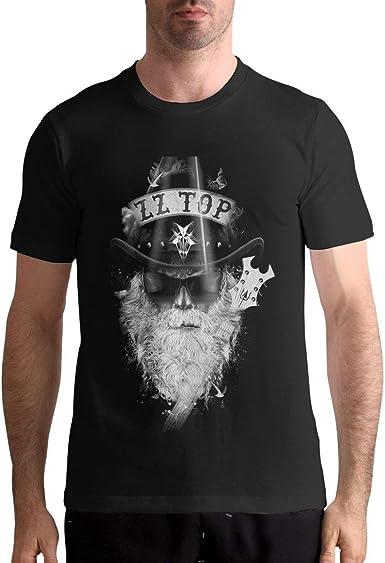 X6Better ZZ Top Camisetas clásicas de patrón de Manga Corta para Hombre, Camiseta Negra: Amazon.es: Ropa y accesorios