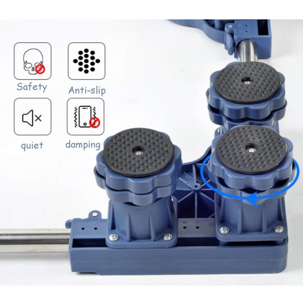 Trolley Pedestal para Lavadora Base De Rodillo Cuadrado,Grey-12* Fixed-Foot Electrodom/ésticos De Refrigerador Ajustables