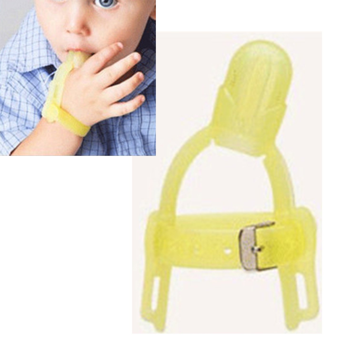 Silicone Stop Thumb Sucking Non-toxic Treatment Kit Stop Finger Sucking for 1-5 years Baby Kids(Color random)