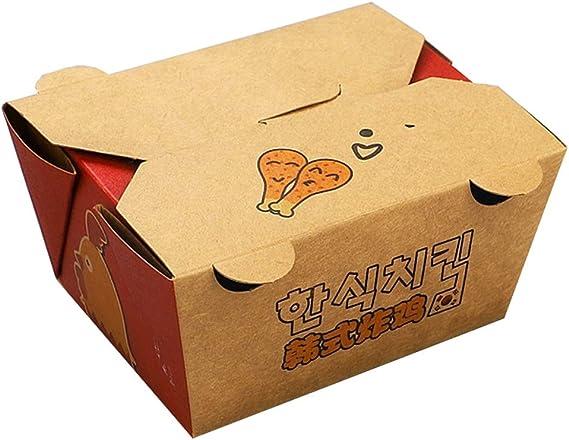 Lhl Caja desechable de Pollo con alas y Pollo - Fiesta de Picnic con arroz, Paquete de Sushi Sashimi, microondas, Caja de calefacción [100 Paquetes] (Color : 820ML): Amazon.es: Hogar