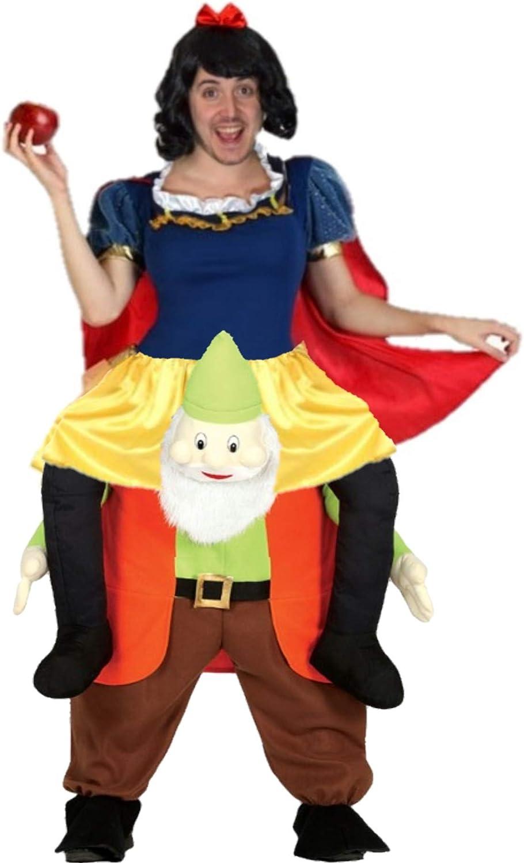Disfraz de Princesa Nieves a hombros enanito para hombre: Amazon ...