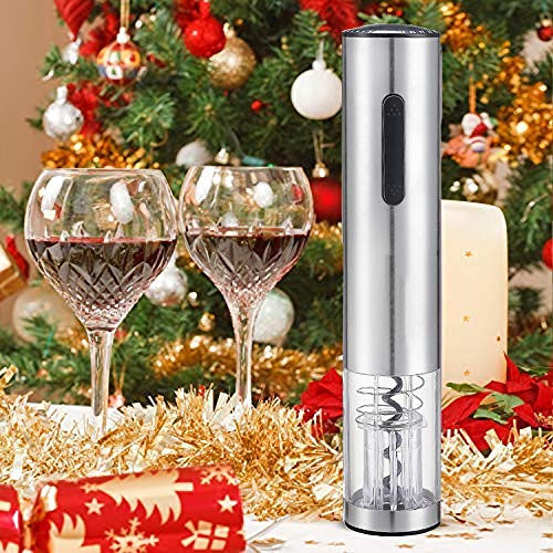 ZYG.GG Electric Bottle Opener, Professional Automatic Corkscrew Wine Opener, Luxury Gift Set with, Accessories Set of Foil Cutter, Wine Ring, Wine Pourer and Vacuum Wine Stopper by ZYG.GG (Image #4)