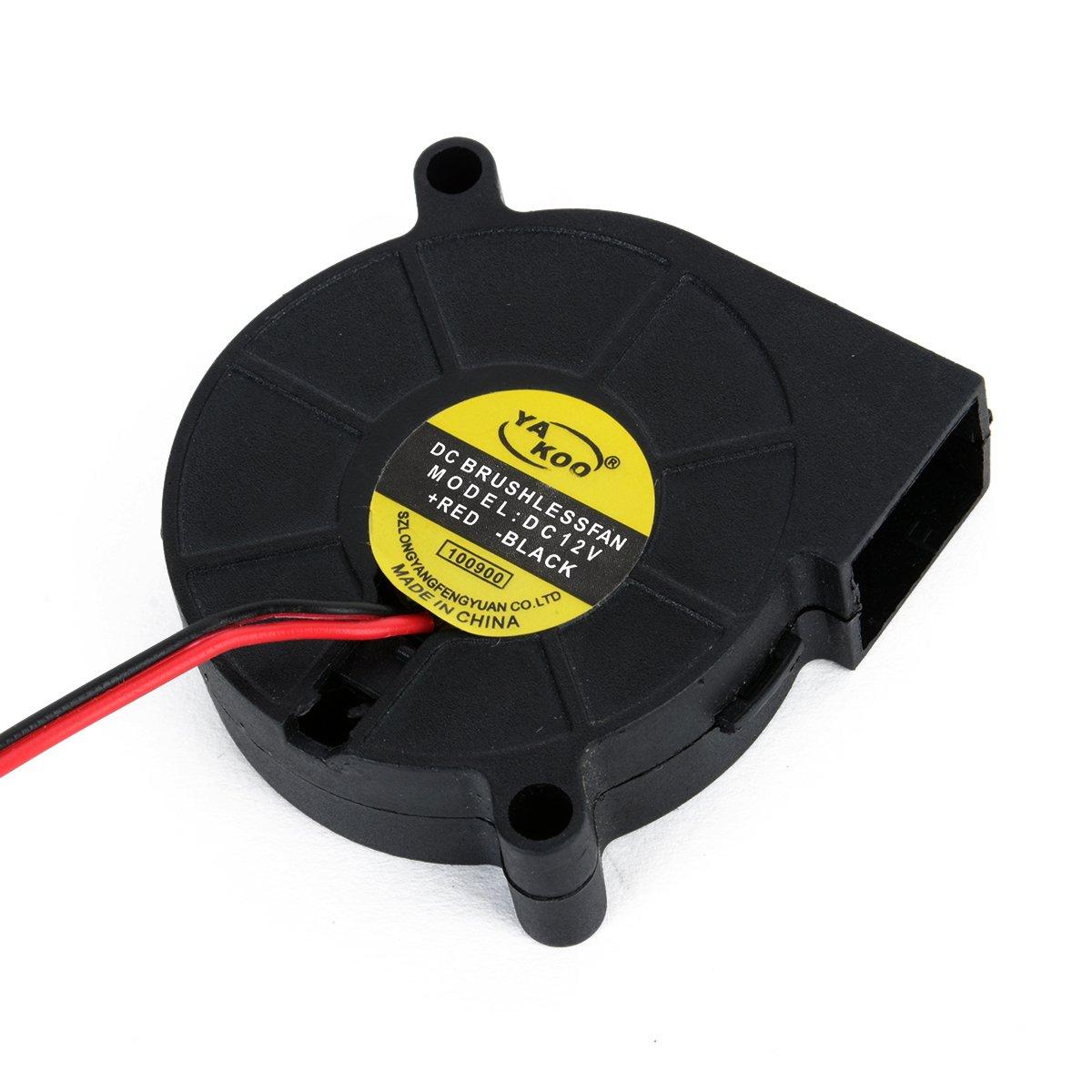 12V DC 50mm Radial L/üfter f/ür 3D Drucker