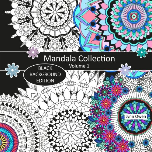 Read Online Mandala Collection Colouring Book Black Background Edition Volume 1 PDF