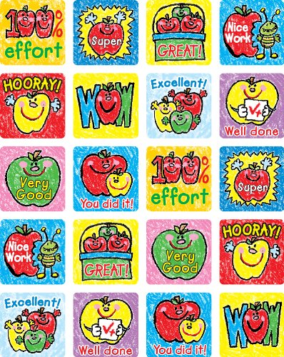 Carson Dellosa Apples: Kid-Drawn Motivational Stickers (0602)